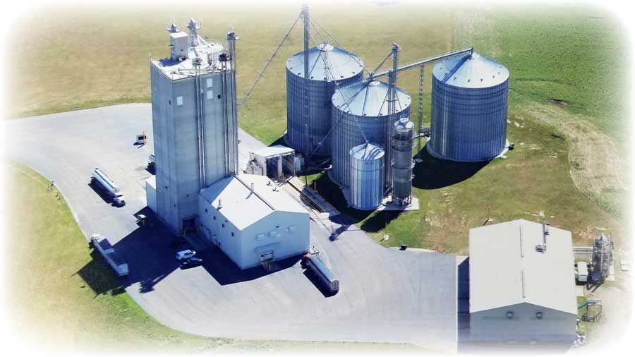Our mill in Howard City makes a large part of our livestock feed.